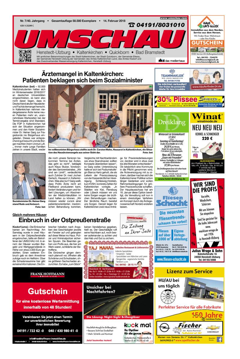 Umschau Kaltenkirchen   14.02.2018